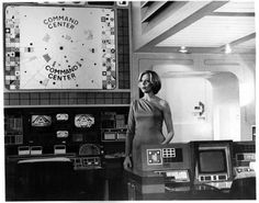 Glamour on the set of Space 1999... Barbara Bain as Dr. Helena Russell