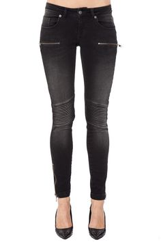 Moto Jeans in Washed Black