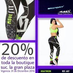 El año aún no acaba y todavía puedes aprovechar todos nuestros modelos y marcas al 20% de descuento #SoySexInx #FashionFitness #modamexico