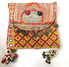 Beautiful Vintage Banjara clutch bag ethnic gypsy tribal bohemian multi patchwork embroidery vintage coins on Etsy, US$69.00
