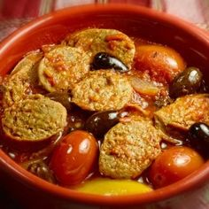 Spicy Sausage and Tomato Casserole