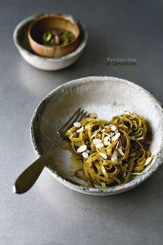 Fettuccine di Campofilone al pesto di pistacchi