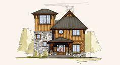 Distant Journey   Mountain Home Designs   Contemporary Mountain Home