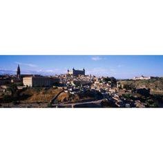 Buildings in a city Toledo Toledo Province Castilla La Mancha Spain Canvas Art - Panoramic Images (18 x 6)