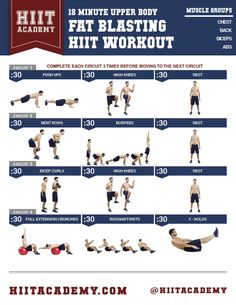 Beach season is well on its way here! Kick start your beach body with this upper body fat blasting HIIT workout!