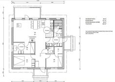 pikkutalonpohja Floor Plans, Diagram, Floor Plan Drawing, House Floor Plans