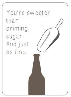 Mmm, beer valentine's cards