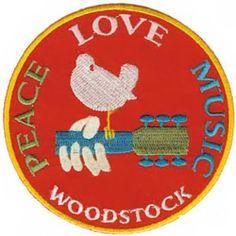 Woodstock Iron on Patch Peace Love Music Logo New | eBay