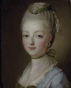 A portrait of a very young Marie Antoinette, by a follower of Francois Hubert Drouais.