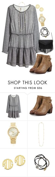 """""""Never give up on someone you can't go a day without thinking about """" by madelyn-abigail ❤ liked on Polyvore featuring H&M, Kate Spade, Tory Burch, QVC, Feather & Stone, women's clothing, women, female, woman and misses"""