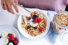 Make your own brekkie with this homemade granola recipe. Aussie Food, Australian Food, Sweet Recipes, Vegan Recipes, Vegan Food, Banana Roll, Christmas Cooking, Clean Eating Recipes, Granola