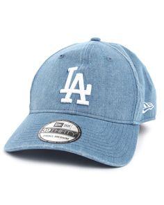 New era Faded Denim Elasticated Closed Cap L.A in Blue for Men (denim) | Lyst