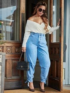 Trendy Plus Size Clothing, Plus Size Fashion For Women, Plus Size Outfits, Plus Fashion, Womens Fashion, Stylish Summer Outfits, Casual Winter Outfits, Garner Style, Chubby Fashion
