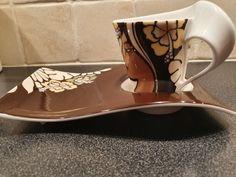 Villeroy & Boch New Wave Caffe Maya | FINN.no Fine Porcelain, New Wave, Maya, Tea Cups, Waves, Tableware, Dinnerware, Tablewares, Ocean Waves
