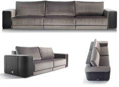 καναπέ για γιοτ, Bentley καναπέ, γιοτ καναπέ, γκρι καναπές, βαθύ καναπέ, δερμάτινο καναπέ βραχίονα