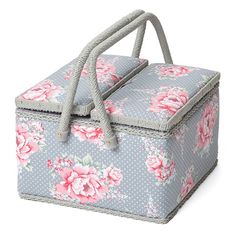Sewing Box L Twin Lid Beautiful Bloom - Yarnplaza.com