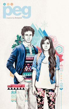 Bratpack Peg Catalog Holiday 2012 by Raxenne Maniquiz, via Behance