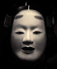 anniversary Doshisha Kanze Noh - 2016 by Stéphane Barbery Japanese Noh Mask, Noh Theatre, Spanish Armada, Pantomime, Japanese Drama, Beautiful Mask, Anniversary, Superhero, Black And White