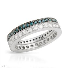$509.00  Vibrant Ring With 1.10ctw Genuine  Clean Diamonds Crafted in 14K White Gold. Total item weight 5.0g - Size 6.5 - Certificate Available.