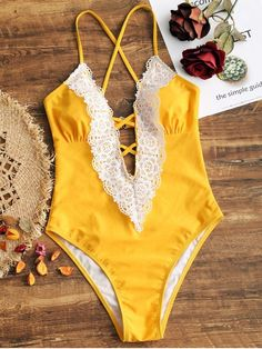 Up to 80% OFF! Lattice Front Crochet Panel High Cut Swimwear. #Zaful #Swimwear #Bikinis zaful,zaful outfits,zaful dresses,spring outfits,summer dresses,Valentine's Day,valentines day ideas,cute,casual,fashion,style,bathing suit,swimsuits,one pieces,swimwear,bikini set,bikini,one piece swimwear,beach outfit,swimwear cover ups,high waisted swimsuit,tankini,high cut one piece swimsuit,high waisted swimsuit,swimwear modest,swimsuit modest,cover ups,swimsuit cover up @zaful Extra 10% OFF…