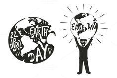 Earth Day Typography set by julymilks on @creativemarket