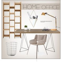 Home Office by lovethesign-shop on Polyvore featuring interior, interiors, interior design, ev, home decor, interior decorating, Menu, TemaHome, home office and homedecor