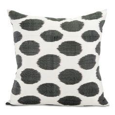Black Spotted Ikat Pillow Ikat Pillows, Ikat Print, Black Spot, Prints, Pattern, Living Spaces, Curtains, Bedroom, Blinds
