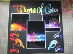 Creating a colorful, World of Color layout