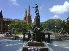 Archibald Fountain and St Mary's Cathedral - photo taken by Virginia Gordon