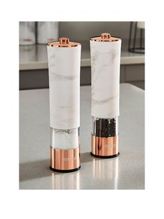 Tower Tower Marble Rose Gold Edition Electric Salt & Pepper Mill Set | very.co.uk