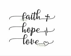 Faith Hope Love svg Religious svg faith svg Christian svg hope svg jesus svg faith silhouette faith cut file hope cut file love cut file - Cricut T Shirts - Ideas of Cricut T Shirts - Trendy Tattoos, Love Tattoos, Body Art Tattoos, Small Tattoos, Tatoos, Faith Tattoos, Rib Tattoos, Music Tattoos, Temporary Tattoos