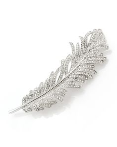 Feather Brooch - Brooches CZ by Kenneth Jay Lane