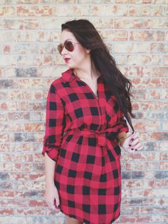 By The Bonfire Dress Red
