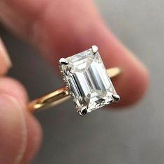 Details about  /4.0ct Emerald 3 Stone Natural Citrine Promise Bridal Wedding Ring 14k Rose Gold
