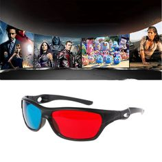 4f2a6334951c0 Universal 3D Plastic glasses Oculos Red Blue Cyan 3D glass Anaglyph 3D  Movie Game