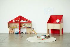 Dollhouse and Chair in one by Torafu Architects