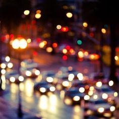 Night City Ipad Air Wallpaper Wallpapers Ipad Car Lights Rainy Street Motion