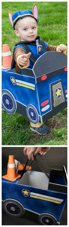 DIY Paw Patrol Police Car Costume ~ Step by Step instructions... This DIY police car is the…