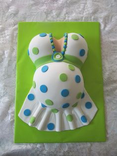 Pregnant Belly Cake- but i like it w the feet print in the belly