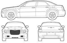 Chrysler 300 Car Drawing Sketch Coloring Page Lowrider Drawings, Car Drawings, Demolition Derby Cars, Blueprint Art, Paper Car, Chrysler 300c, Car Sketch, Top Cars, Luxury Cars