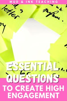 Writing Essential Questions for your units may seem like a new concept, but it's the most important engagement strategy that we can harness as middle school teachers and high school teachers. A unit shaped and inspired by an essential question drives students inquiry and encourages student centered lesson planning. Here is advice for lesson and unit planning.