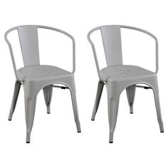 Carlisle Low Back Metal Dining Chair