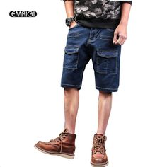 >> Click to Buy << Men Short Jeans Summer Street Fashion Hiphop Denim Pant Male Knee Length Jean Trousers #Affiliate