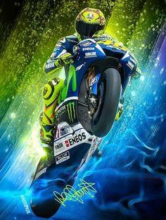 รูปภาพ - Google+ Vale Rossi, Velentino Rossi, Valentino Rossi Yamaha, Valentino Rossi 46, Motorcycle Art, Bike Art, Gp Moto, Yamaha Motorcycles, Harley