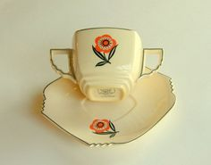 art deco cup and saucer