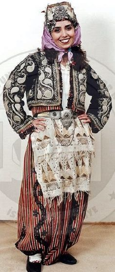 traditional festive costume from the havran yenice region south of biga rural