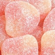 Coral candy--Haribo Gummi Peaches