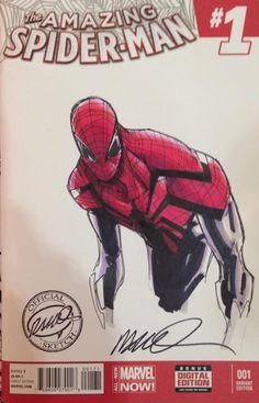 Spider-Man by Humberto Ramos Comic Book Characters, Comic Character, Comic Books Art, Marvel E Dc, Marvel Heroes, Captain Marvel, Spiderman Art, Amazing Spiderman, Teen Art