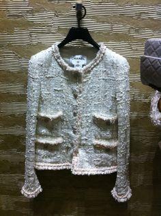 A classic Chanel tweed jacket