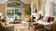 What a warm, inviting #living room
